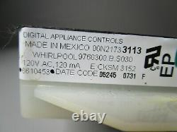 A1 Whirlpool Range Oven Control Board with Black Overlay 6610453 14D21730102 ASMN