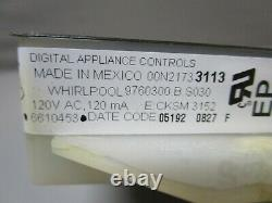 A1 Whirlpool Range Oven Control Board withBlack Overlay (TESTED GOOD) 9760300 ASMN