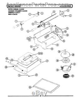 GENUINE MAYTAG/AMANA/JENN-AIR Range Stove Drive Motor 703827 New OEM