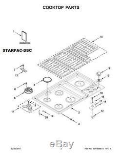 Genuine JennAir 36 Range Oven Grate Kit W10821817 for JGD3536GB00, JGD3536GS00