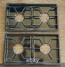 Jenn-Air Range Oven Double Burner Drip Pans 3401X055-09 & Grates 12200030