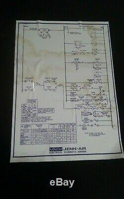 Jenn Air Range/Stove/Oven Model SEG196 Back Panel Section