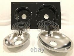 Jenn-Air Whirlpool OEM PartsA100 Black Burner Cartridge 4 Spades Cooktop Range