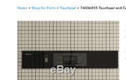 Maytag Surface Jenn-Air Range Stove Panel 74006855