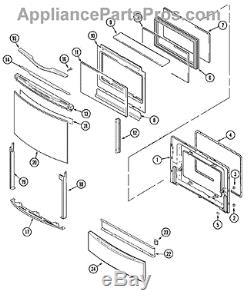 Maytag/Whirlpool/Jenn-Air Range Stove Door Handle 74005697, WP74005697 New OEM