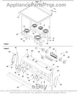 Range Stove WHIRLPOOL AMANA JENN-AIR Switch 74008230
