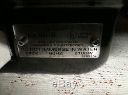 Vintage Jenn Air Range Electric Stove Cook Top Grill w Cover E12231 KASG-O 2100W